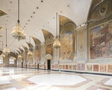 Salone del podest palazzo re enzo for Disegni del mazzo del secondo piano